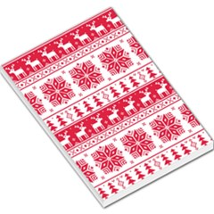 Christmas Patterns Large Memo Pads