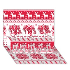 Christmas Patterns You Are Invited 3d Greeting Card (7x5)
