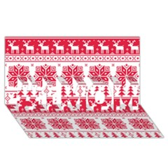 Christmas Patterns #1 MOM 3D Greeting Cards (8x4)