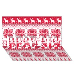 Christmas Patterns Best Sis 3d Greeting Card (8x4)