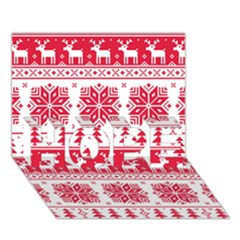 Christmas Patterns Hope 3d Greeting Card (7x5)