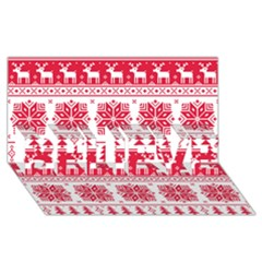 Christmas Patterns Believe 3d Greeting Card (8x4)