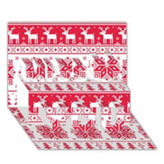 Christmas Patterns Miss You 3d Greeting Card (7x5)