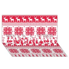 Christmas Patterns Engaged 3d Greeting Card (8x4)