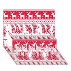 Christmas Patterns Work Hard 3d Greeting Card (7x5)