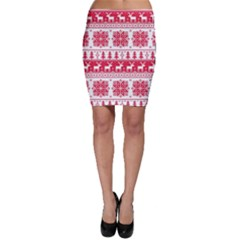 Christmas Patterns Bodycon Skirt