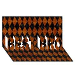 Diamond1 Black Marble & Brown Marble Best Bro 3d Greeting Card (8x4)
