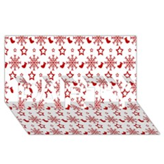 Christmas Pattern  Party 3d Greeting Card (8x4)