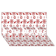 Christmas Pattern  Believe 3d Greeting Card (8x4)