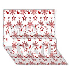 Christmas Pattern  Miss You 3d Greeting Card (7x5)