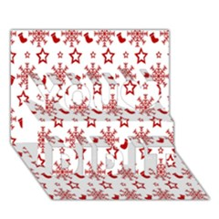 Christmas Pattern  You Did It 3d Greeting Card (7x5)