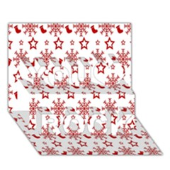 Christmas Pattern  You Rock 3d Greeting Card (7x5)