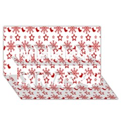 Christmas Pattern  Merry Xmas 3D Greeting Card (8x4)