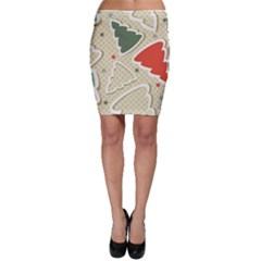 Christmas Tree Stars Pattern Bodycon Skirt