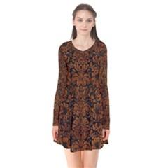Dms2 Bk Br Marble Flare Dress