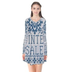 Christmas Elements With Knitted Pattern Vector   Flare Dress