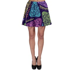 Christmas Patterns Skater Skirt