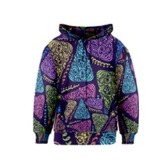 Christmas Patterns Kids  Zipper Hoodie