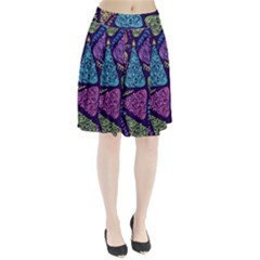 Christmas Patterns Pleated Skirt