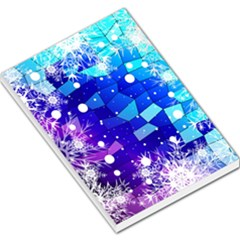 Christmas Snowflake With Shiny Polygon Background Vector Large Memo Pads