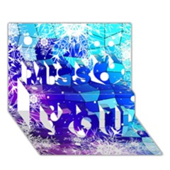 Christmas Snowflake With Shiny Polygon Background Vector Miss You 3d Greeting Card (7x5)