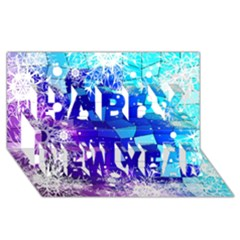 Christmas Snowflake With Shiny Polygon Background Vector Happy New Year 3d Greeting Card (8x4)