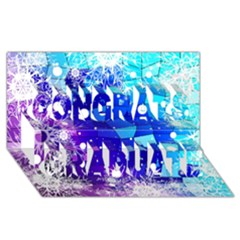 Christmas Snowflake With Shiny Polygon Background Vector Congrats Graduate 3d Greeting Card (8x4)