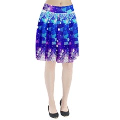 Christmas Snowflake With Shiny Polygon Background Vector Pleated Skirt