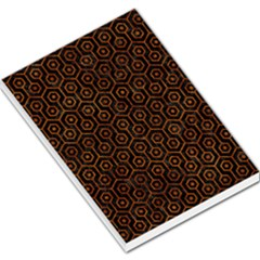 Hexagon1 Black Marble & Brown Marble Large Memo Pads