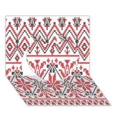 Consecutive Knitting Patterns Vector Background Heart 3d Greeting Card (7x5)