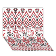 Consecutive Knitting Patterns Vector Background Hope 3d Greeting Card (7x5)