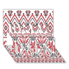 Consecutive Knitting Patterns Vector Background WORK HARD 3D Greeting Card (7x5)