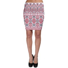 Consecutive Knitting Patterns Vector Background Bodycon Skirt