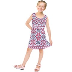 Consecutive Knitting Patterns Vector Background Kids  Tunic Dress