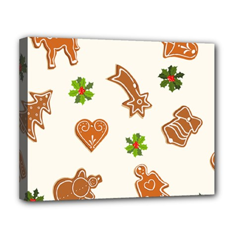 Cute Christmas Seamless Pattern  Deluxe Canvas 20  X 16