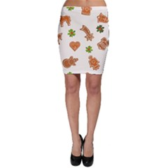 Cute Christmas Seamless Pattern  Bodycon Skirt