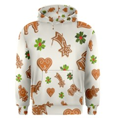 Cute Christmas Seamless Pattern  Men s Pullover Hoodie
