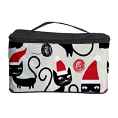 Cute Cat Christmas Seamless Pattern Vector  Cosmetic Storage Case