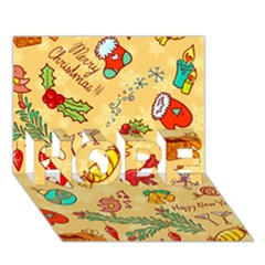 Cute Christmas Seamless Pattern Vector HOPE 3D Greeting Card (7x5)