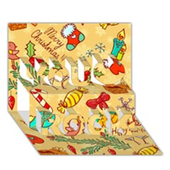 Cute Christmas Seamless Pattern Vector You Rock 3d Greeting Card (7x5)