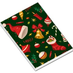 Cute Christmas Seamless Pattern Large Memo Pads
