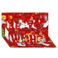 Cute Christmas Seamless Pattern Vector  Best Wish 3d Greeting Card (8x4)