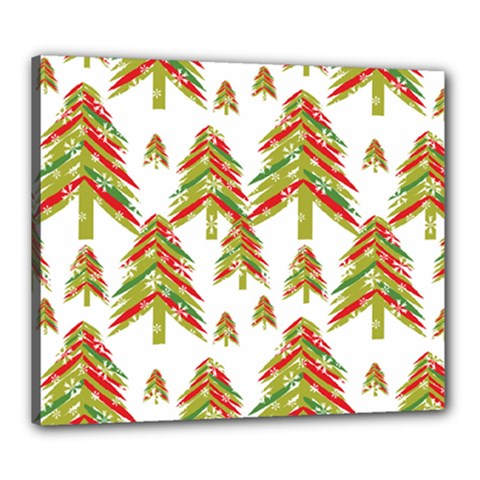 Cute Christmas Seamless Pattern Vector    Canvas 24  X 20