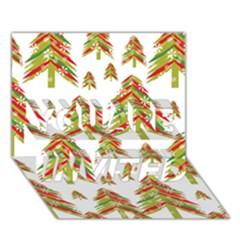 Cute Christmas Seamless Pattern Vector    YOU ARE INVITED 3D Greeting Card (7x5)