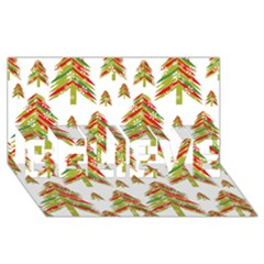 Cute Christmas Seamless Pattern Vector    Believe 3d Greeting Card (8x4)