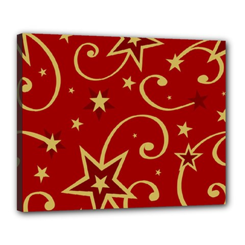 Elements Of Christmas Decorative Pattern Vector Canvas 20  X 16