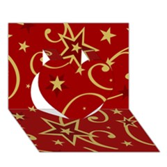 Elements Of Christmas Decorative Pattern Vector Heart 3d Greeting Card (7x5)