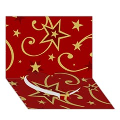 Elements Of Christmas Decorative Pattern Vector Heart Bottom 3D Greeting Card (7x5)