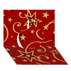 Elements Of Christmas Decorative Pattern Vector Apple 3d Greeting Card (7x5)
