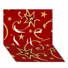 Elements Of Christmas Decorative Pattern Vector Clover 3d Greeting Card (7x5)